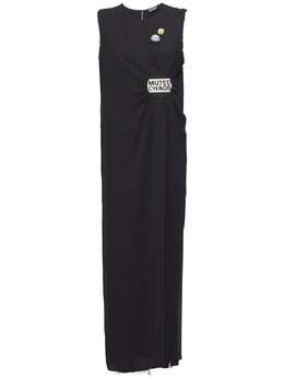 Lightweight Satin Long Dress W/badges Raf Simons 73INGH010-MDA5OQ2