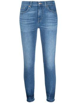 7 For All Mankind укороченные джинсы скинни средней посадки JSVYR51TRT