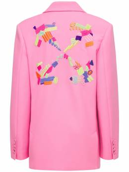 Lvr Exclusive Embroidered Arrow Jacket Off-White 74IO30017-MzA1NQ2