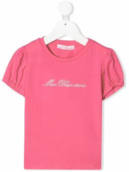 Miss Blumarine embellished-logo short-sleeve T-shirt MBL3703