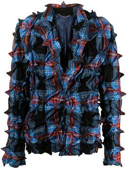Charles Jeffrey Loverboy пиджак в клетку тартан с шипами CJLSS21MSFSW
