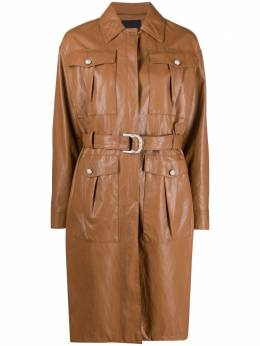 Pinko faux leather trench coat 1G16DS7866C93