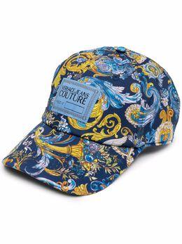 Versace Jeans Couture baroque-print baseball cap E8HWAK1480157