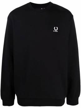 Raf Simons X Fred Perry logo-embroidered sweatshirt SM1861