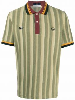 Fred Perry logo-printed striped polo shirt SM1848