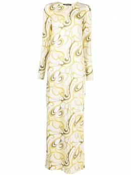 Raf Simons abstract-print floor-length dress 211W460190071500