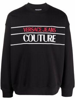 Versace Jeans Couture logo-print sweatshirt B7GWA7TS30318