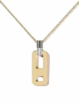 As29 18kt gold diamond DNA pendant long necklace DCP002NK18KWYDIA0001