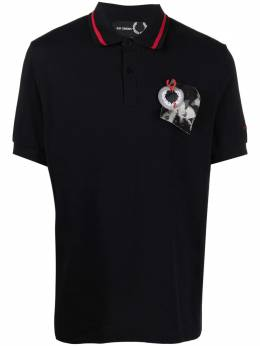 Raf Simons X Fred Perry patch-embroidered polo shirt SM1851PIQUET102