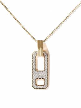 As29 18kt yellow gold diamond DNA pendant necklace DCP001NK18KWYDIA0001