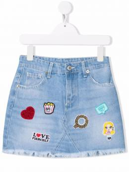 Chiara Ferragni Kids джинсовая юбка с нашивкой-логотипом CFKST007