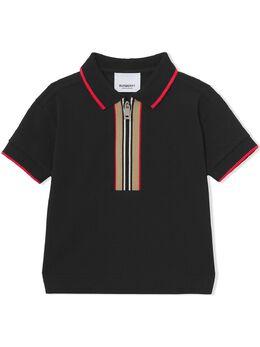 Burberry Kids рубашка поло в полоску Icon Stripe 8040909