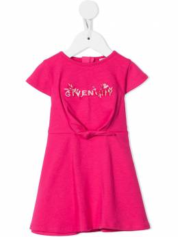 Givenchy Kids embroidered-logo cotton dress H02070