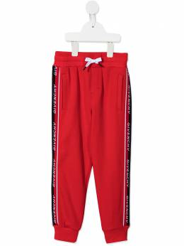 Givenchy Kids logo-tape track pants H24114
