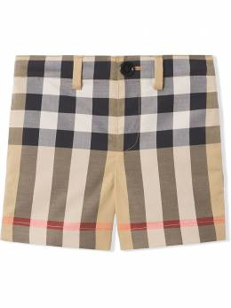 Burberry Kids шорты в клетку 8041001