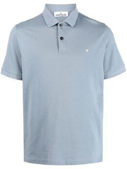 Stone Island рубашка поло с вышитым логотипом 741521717