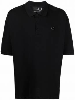 Raf Simons X Fred Perry graphic print polo shirt SM1853PIQUET102
