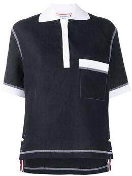 Thom Browne рубашка поло с контрастной строчкой FTU370C07266