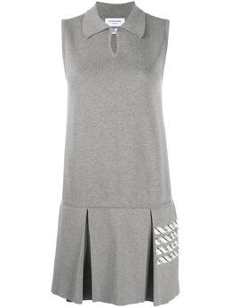 Thom Browne платье поло с полосками 4-Bar FKD123AY3007