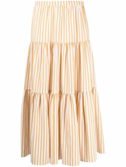 Chinti And Parker MINI STRIPE TIRED SKIRT SW03