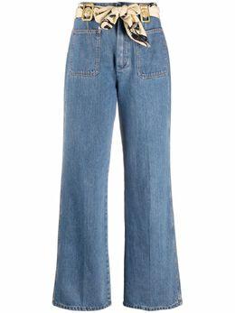 Lanvin high-waisted scarf-detail jeans RWTR0023D002E21