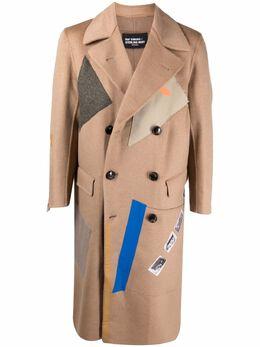 Raf Simons двубортное пальто в технике пэчворк A0160620016