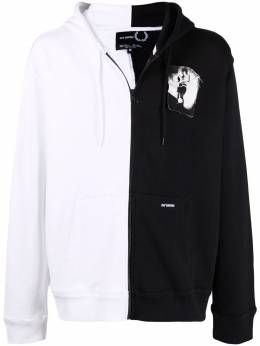Raf Simons X Fred Perry two-tone zipped hoodie SJ186338