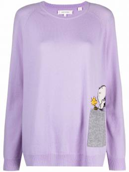 Chinti And Parker peek-pocket snoopy sweater KW66