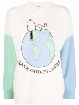 Chinti And Parker Snoopy Save Our Planet wool jumper KW70