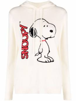 Chinti And Parker snoopy intarsia-knit cashmere hoodie KW73