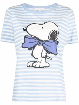 Chinti And Parker Snoopy Bow striped T-shirt TW76