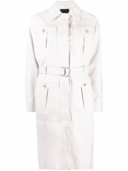 Pinko faux-leather trench coat 1G16DS7866Z14