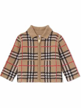 Burberry Kids intarsia-knit zip-fastening cardigan 8041262