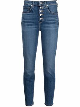 Veronica Beard logo-patch denim jeans J21028000006LS