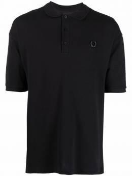 Raf Simons X Fred Perry graphic-print polo shirt SM185338