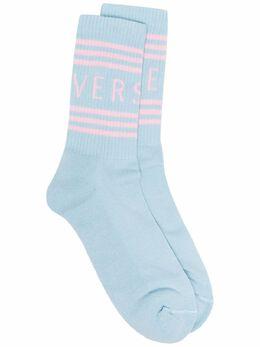Versace logo-print ribbed socks ICZD002IK0203