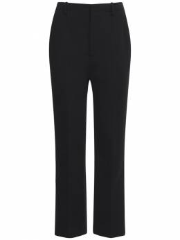 Wool Blend Jersey Wide Leg Pants Saint Laurent 73I06C089-MTAwMA2