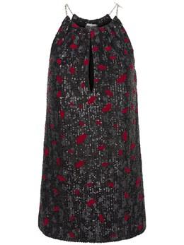 Sequin Embroidered Jersey Mini Dress Saint Laurent 73I06C068-MTAzMQ2