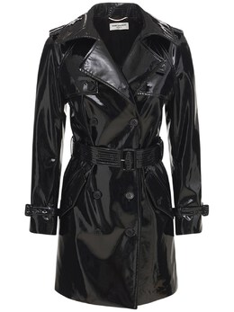 Stretch Varnish Vinyl Trench Coat Saint Laurent 73I06C091-MTAwMA2