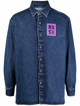 Raf Simons logo-patch denim shirt 211M242101390043