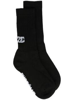 032C носки вязки интарсия с логотипом SS21A1030
