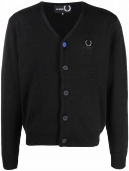 Raf Simons X Fred Perry logo-embroidered cardigan SK186738