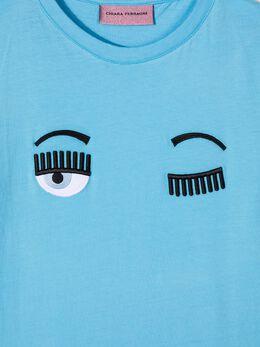 Chiara Ferragni Kids TEEN Flirting logo cotton T-shirt CFKT005T