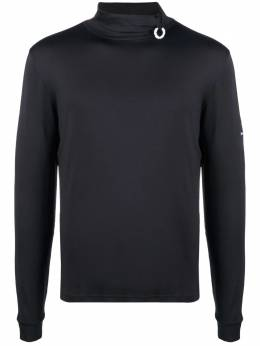 Raf Simons X Fred Perry logo-plaque turtleneck top SM186038