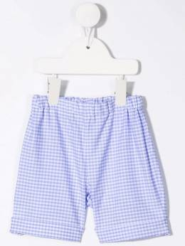Siola check-print cotton shorts 23055