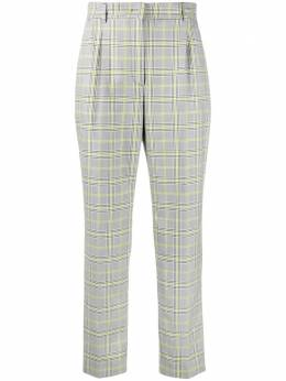 Manuel Ritz darted check-pattern trousers 3036PD0121400233