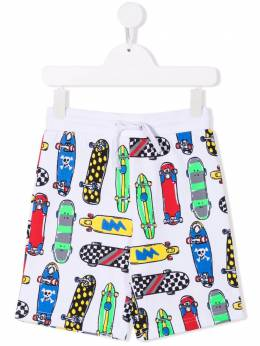Stella McCartney Kids skateboard-print drawstring shorts 602258SQJ46