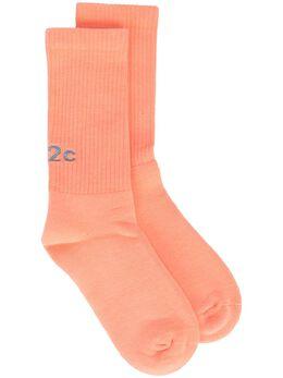 032C носки вязки интарсия с логотипом SS21A1020