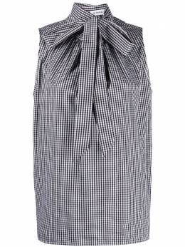 Manuel Ritz sleeveless gingham pussy-bow blouse 3036WD0121401499