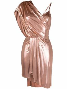 Elisabetta Franchi asymmetrical draped mini dress AB06611E1